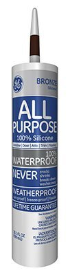 GE GE412A Silicone I Window and Door Caulk, 10.1 oz Cartridge, Bronze (Case of 12) by Momentive Perform Material