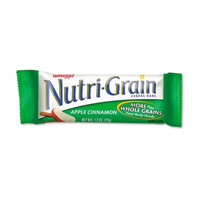 o Kellogg s o - Nutri-Grain Cereal Bars, Apple-Cinnamon, Indv Wrapped 1.5oz Bar, 16/bx ()