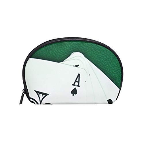 Makeup Bag Cosmetic Pouch Clutch Playing Cards Poker -