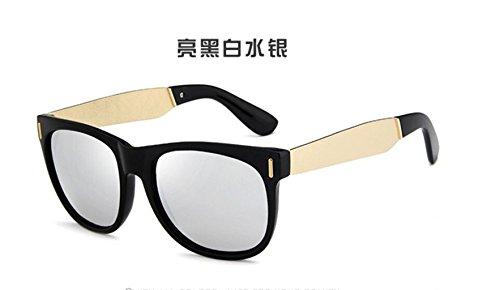 LSHGYJ Bright de patas gafas GLSYJ colorido and black sol gafas sol white mercury gafas de metal de sol de Moda gafas hombres retro rUWrgnq4