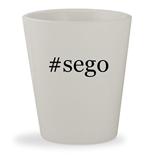 #sego - White Hashtag Ceramic 1.5oz Shot Glass