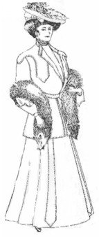 What to Wear to a Titanic Event 1902-1905 Ladies Two-Piece Dress Pattern $19.95 AT vintagedancer.com