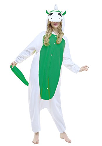 NEWCOSPLAY Unisex Adult Unicorn Pajamas- Plush One Piece Cosplay Animal Costume (M-for Height 63