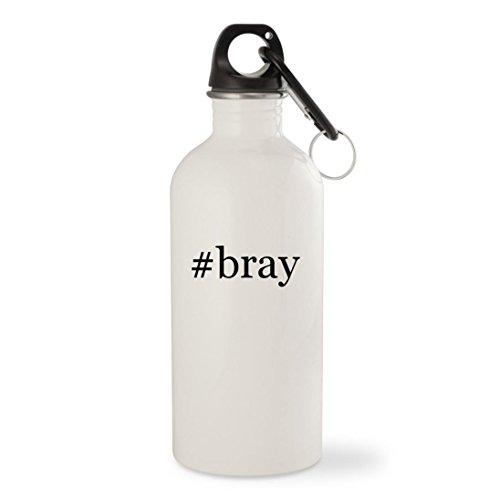 Bray Wyatt Costume (#bray - White Hashtag 20oz Stainless Steel Water Bottle with Carabiner)