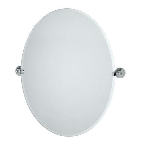 Vanity Contemporary Bath Designer - Gatco 4359LG Charlotte Large Oval Wall Mirror, Chrome
