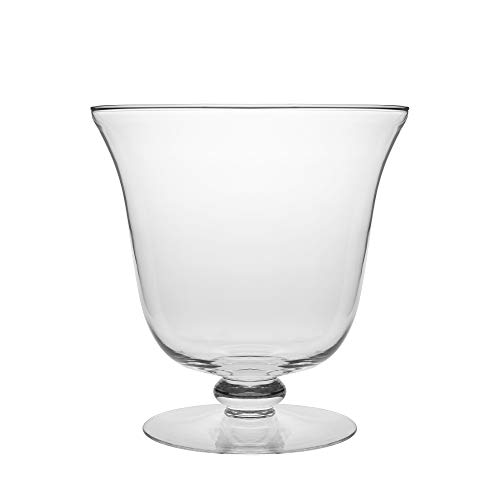 (Barski - European Quality - Handmade Thick Glass - Footed - Centerpiece Bowl - Fruit Bowl - Punch Bowl - 210 oz. - 10.25