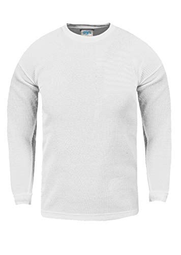 - Shaka Wear KTC01_XL Thermal Long Sleeve Crewneck Waffle Shirt White XL