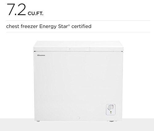 Price comparison product image HISENSE FC72D6BWE 7.2 CUFT CHEST FREEZER