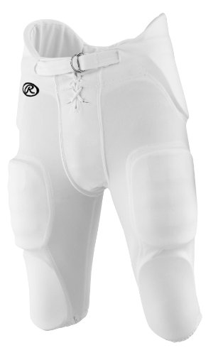 Adult Practice Football Pants - Rawlings Men's F3500P Football Pant (White, Large)