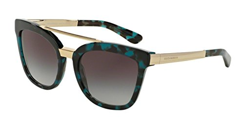 Dolce&Gabbana DG4269 Sunglasses 28878G-54 - Cube Petroleum Havana Frame, Grey - Price Gabbana Sunglasses Of Dolce And