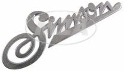 KR50 Firmenschild Simson am Frontschild silber Schriftzug Aluminium