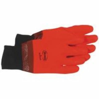 Hot Hands High-Vis Pvc Glove With Knit - Oil Boss Hugo