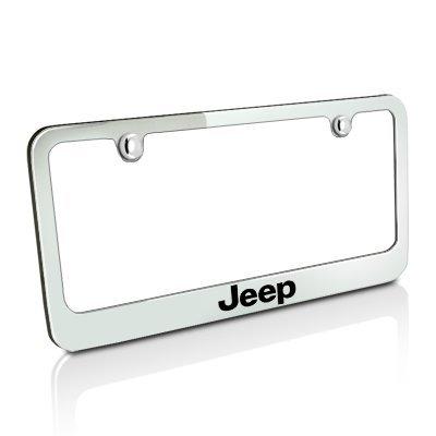 Jeep Chrome Brass License Plate Frame