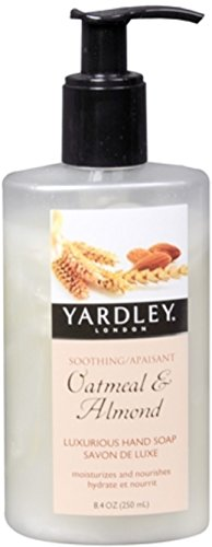 Yardley London Luxurious Hand Soap Traditional Oatmeal & Almond 8.40 oz (Pack of 4)