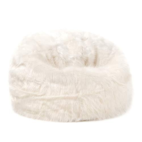 443f279729 icon Large Childrens Classic Faux Fur Bean Bags - Cream