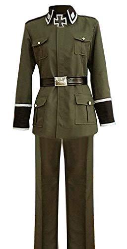 ZYHCOS Adults US Size Mens Germany Uniform Cosplay Costume (Mens-XXL) Green]()