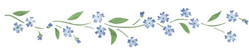 Forget-Me-Not Floral Wall Stencil Border SKU #1492 by Designer Stencils