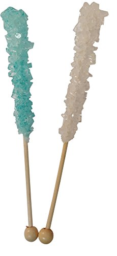 (Its a Boy Baby Shower Rock Candy Sticks 12 Count LIGHT Blue and White For Gender Reveal Parties OR Baby Showers-BUBBLE WRAPPED FOR SAFETY)