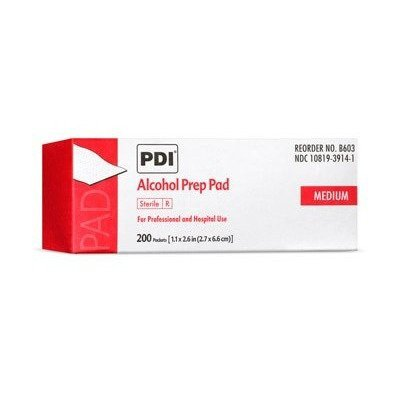 MCK60372700 - Professional Disposables Alcohol Prep Pad PDI Isopropyl Alcohol Individual Packet Medium Sterile