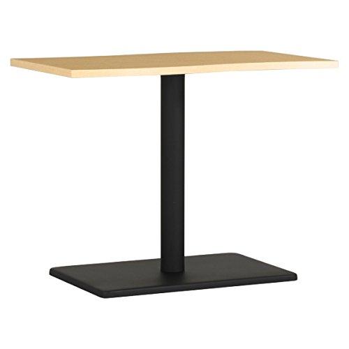 arne ダイニングテーブル 机 幅90 奥行き60 高さ70 日本製 デスク 食卓テーブル デザインテーブル River9060D NT×BK B077Z3XSPS 高さ:70cm/天板サイズ:90×53|NT×BK NT×BK 高さ:70cm/天板サイズ:90×53