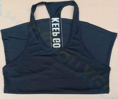 SGYHPL Sommer Frauen Gym Sport Weste Ärmelloses Shirt Fitness Laufbekleidung Tanktops Workout Yoga Unterhemden Quick Dry Tuniken L Keep Going Schwarz