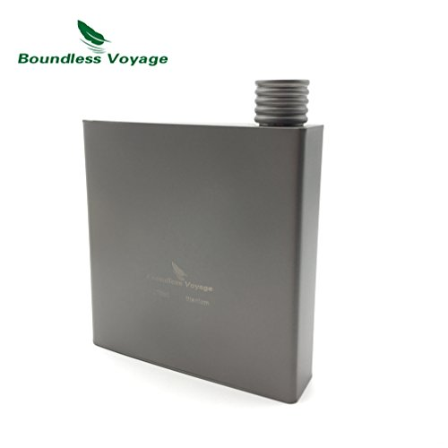 Titanium Hip Flask Camping Wine Bottle Outdoor Drink Flask (Flat Bottle)