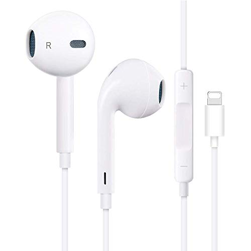 Lighting Connector Earbuds Earphone Wired Headphones Headset with Mic and Volume Control, Stereo Sound,Compatible with iPhone Xs/XR/XS Max/iPhone 7/7 Plus iPhone 8/8Plus /iPhone X Earphoness and Play