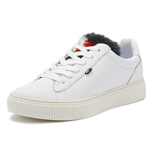 Hilfiger Trainers Fur Star Womens Funny Tommy White White SPxd1q8q