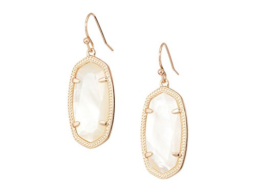 - Kendra Scott Signature Dani Drop Earrings (Rose Gold/Ivory Mother of Pearl)