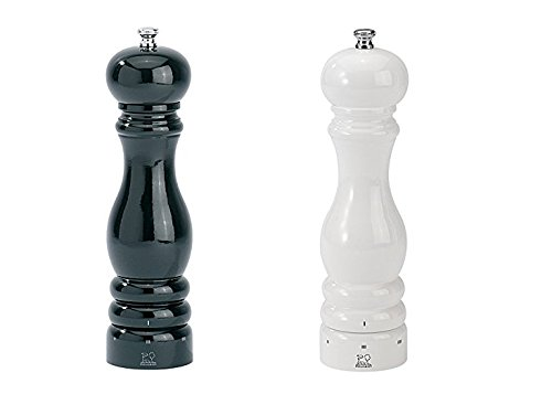 Peugeot Paris U'Select Lacquer Salt And Pepper Mill Set 8 3/4'', Black And White by Peugeot