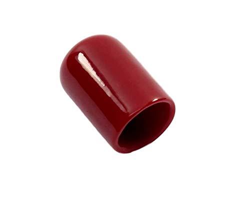 Inside Height Inside Diameter 5//8 Pkg of 24 1 Red Vinyl Flexible Round Cap