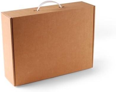 Selfpackaging Maleta de cartón en Color Kraft. Pack de 10 Unidades