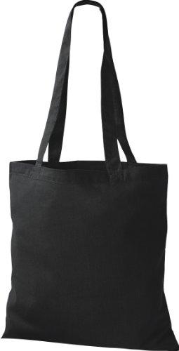 ShirtInStyle Premium Stoffbeutel Baumwolltasche Beutel Shopper Umhängetasche, Farbe black
