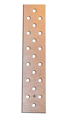 "OFG Best Durable Plywood Pegboard 18-Hole Climbing Board For Residential Commercial Heavy-Duty Institutional Use Fitness 10""x47""x1.5"" Laminated Cabinet Grade (Birch Plywood, 47 Inches) by Ohio Fitness Garage"