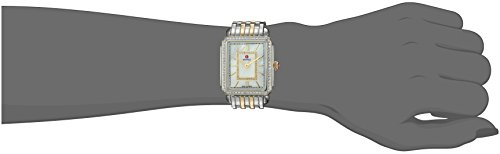 MICHELE Womens Deco II Swiss Quartz Stainless Steel Casual Watch, Color:Silver-Toned (Model: MWW06I000004)