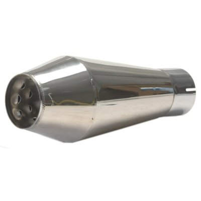 The Bomb Muffler For 3 Inch Exhaust Pipe - 5 Inch Diameter X 13 Inches Long Stainless Steel Canister