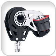 Harken 57mm Single Swivel Carbo Ratchet Block w/ Cam Cleat (Block Ratchet)