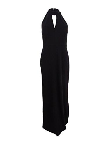 Klein Calvin Womens Licol Crêpe Robe De Soirée Noire