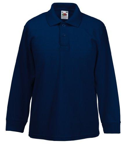 Langarm-Poloshirt , Farbe:Deep Navy;Größe:116 cm