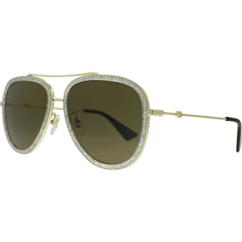 Gucci 0062S 004 Gold 0062S Aviator Sunglasses Lens Category 3 Size - Aviators Womens Gucci