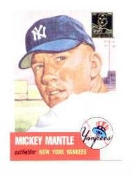 - 1996 Topps Mantle #3 Mickey Mantle/1953 Topps Near Mint/Mint