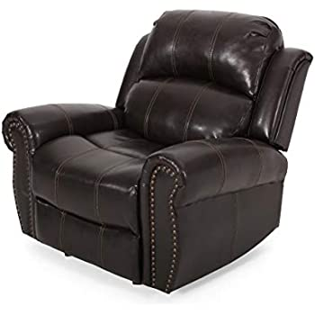 Amazon Com Flash Furniture Brown Leather Rocker Recliner