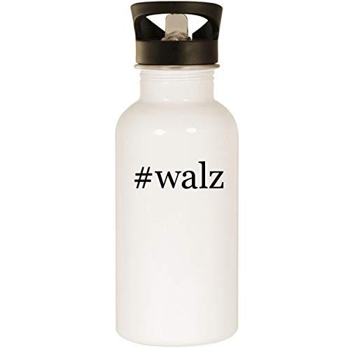 #walz - Stainless Steel Hashtag 20oz Road Ready Water Bottle, White (Cap Walz)