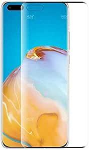 شاشة حماية زجاجية منحنية بدرجة امالة 5 دي لموبايل هواوي p40 برو