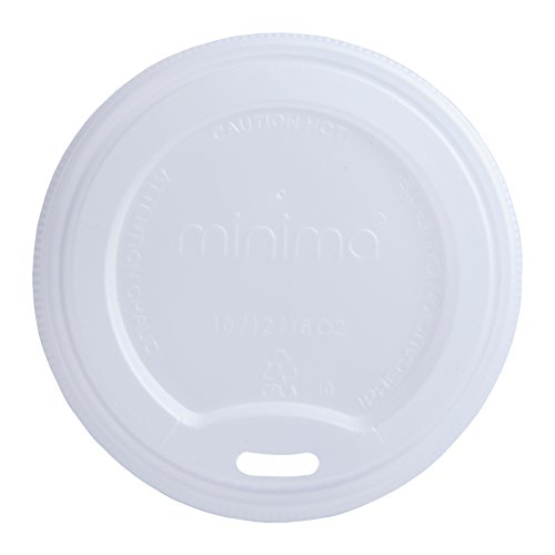 Minima 1000 Count of Compostable Hot Cup Lids – Fits Minima 10 oz/12 oz/16 oz Hot Cups. BPI-CERTIFIED Compostable certified Lids. by Minima
