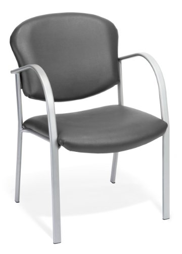 (OFM 414-VAM-604 Contract Guest Vinyl Chair, Charcoal)