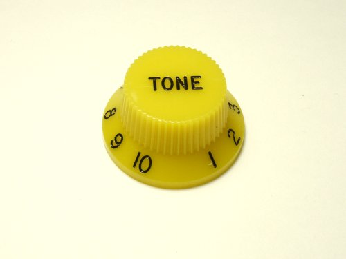 MIJ Colored Tone Knobs for Stratocaster inch (Yellow)