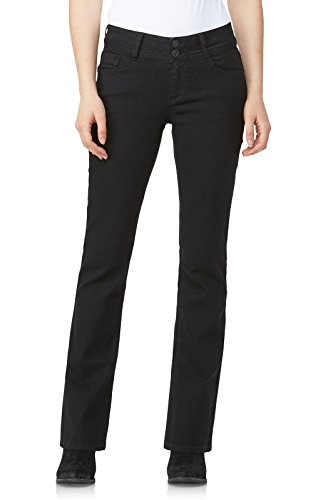 WallFlower Junior's Instastretch Luscious Curvy Bootcut Jeans, Black 7