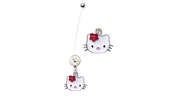 Amazon Com Pregnancy Ring Cute Red Flower Hello Kitty Head Cat