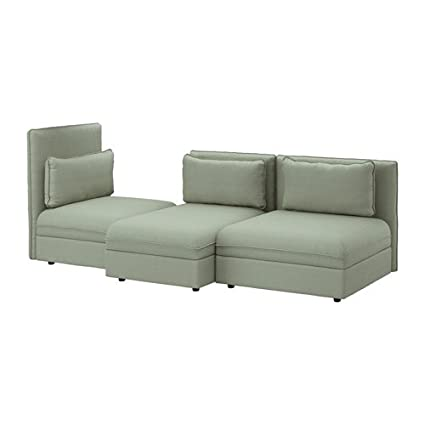 Amazon.com: Ikea Sectional sofa, 3-seat, Hillared green ...